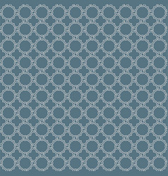 Gray geometric quatrefoil trellis pattern vector