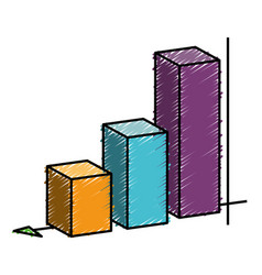 Graphic statistical bar icon vector