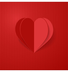 3d heart vector image vector image
