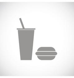 Fast food black icon vector