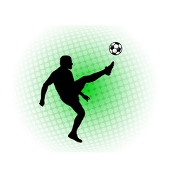 soccer player abstract background vector image