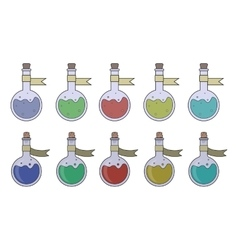 Magic potions set vector