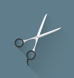 Flat hairdresser scissors icon vector