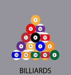 Billiards sport icon flat vector image