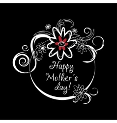 Vintage mothers day label on chalkboard happy vector