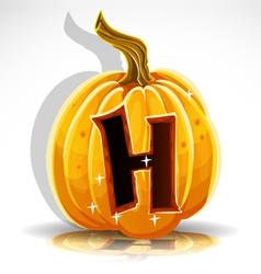Halloween pumpkin h vector