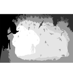 Bat cave vector image