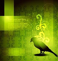 Beautiful bird artwork vector