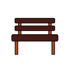 bench park rest comfort chair decoration vector image