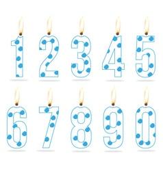 Birthday numeral candles boy vector