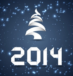 Blue New Year Background 2014 vector image vector image