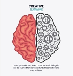 Brain of creative teamwork concept vector