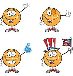 Cartoon basketball design vector image vector image