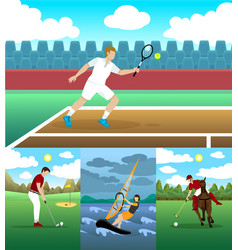 Colorful active leisure collection vector