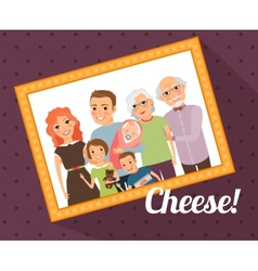 Family photo portrait vector image vector image