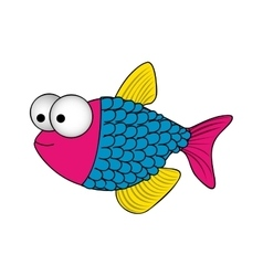 Fish cartoon icon image vector