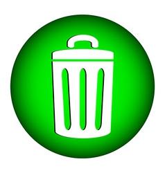 Garbage icon vector