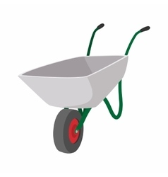 Garden wagon cartoon icon vector