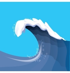 Huge ocean wave for surfing vector image