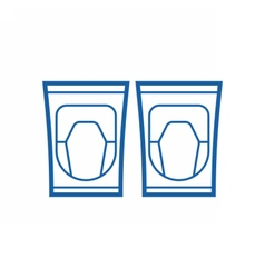 Knee pads icon vector