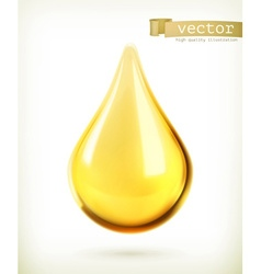 Oil drop icon vector image