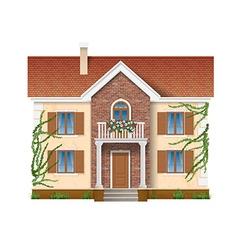residential house overgrown with ivy vector image vector image
