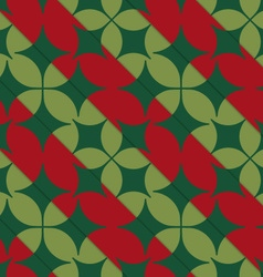 Retro 3D bright green and red with pointy four vector image