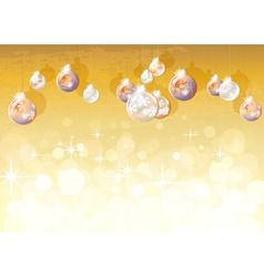 Romantic golden christmas design vector