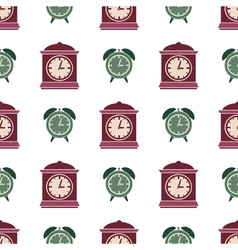 Seamless pattern with clock vector image