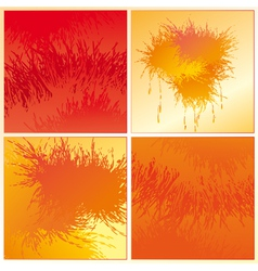 set of the orange backgrounds vector image