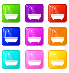 Shower set 9 vector