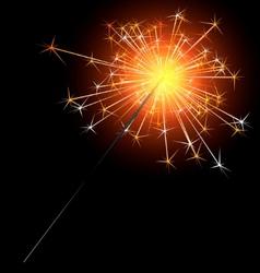 sparkler vector image vector image