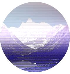 Striped mountain landscape vector