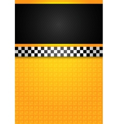 taxi cab - blank template vector image vector image