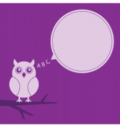 thinking owl vector image