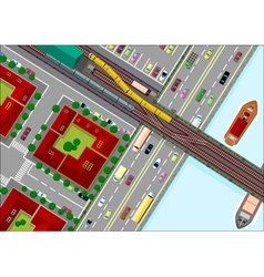 traffic in the city vector image