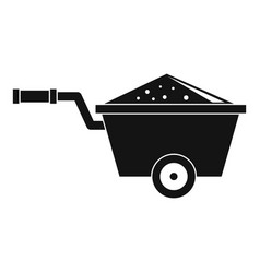 Truck icon simple style vector