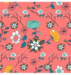 Vintage flowers pattern vector image vector image