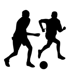 Young men playing soccer vector