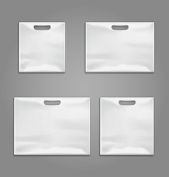 Disposable plastic bags templates design vector