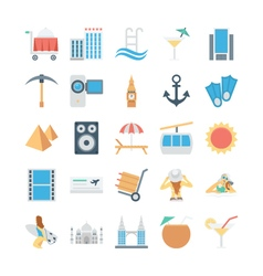 Travel and tourism colored icons 3 vector