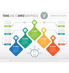 Infographic with design elements presentation of vector