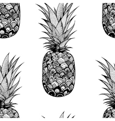 seamless texture with pineapple Textile vector image