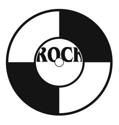 vinyl icon simple style vector image