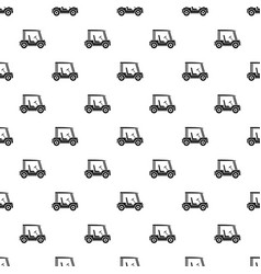 golf club vehicle pattern vector image
