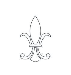 vintage element decoration victorian line vector image