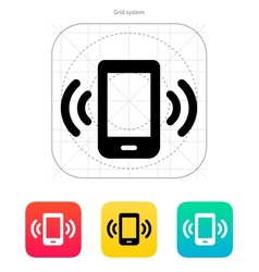 Mobile phone bell icon vector