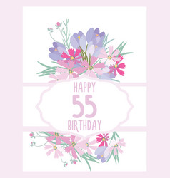 greeting card for anniversary birthday vector image