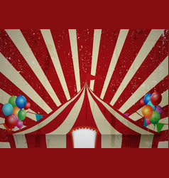 Vintage circus a circus vintage poster for your a vector