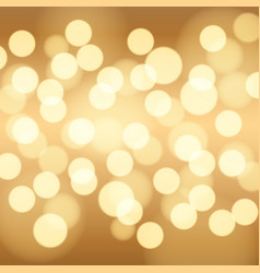 Gold bokeh background vector